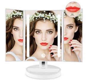 Auxmir Kosmetikspiegel mit LED Licht, Schminkspiegel Beleuchtet