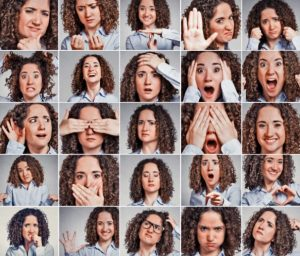Nonverbale Kommunikation, Mimik, Gestik
