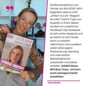 Tanja Basic Feedback und Testimonial