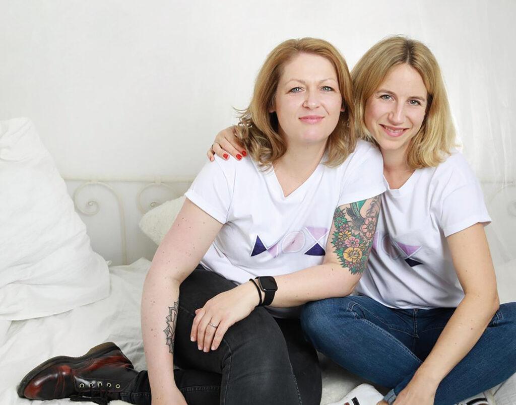 Astrid und Stephie, die Gründerinnen bon mox, homecoming